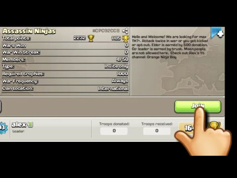 How To Get People To Join Your New Clan (Clash Of Clans) 2019