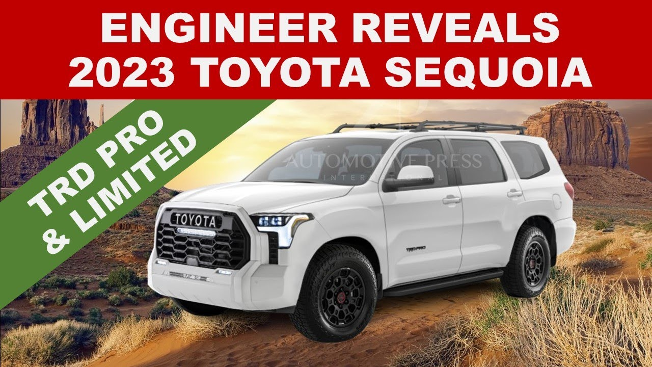"""ENGINEER REVEALS 2023 TOYOTA SEQUOIA (NEW RENDER) - It will be the """"twin"""" of 2022 Toyota Tundra"""
