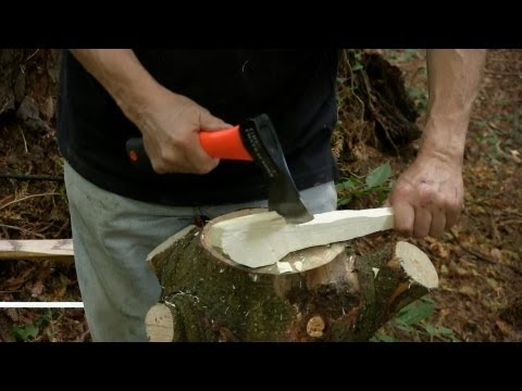 Carving a Spoon Using an Axe   Paul Sellers