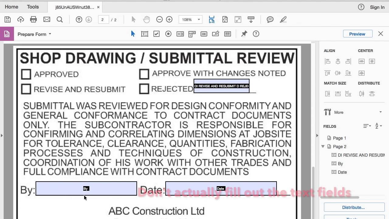 Adobe Acrobat DC Dynamic Stamp Tutorial - YouTube