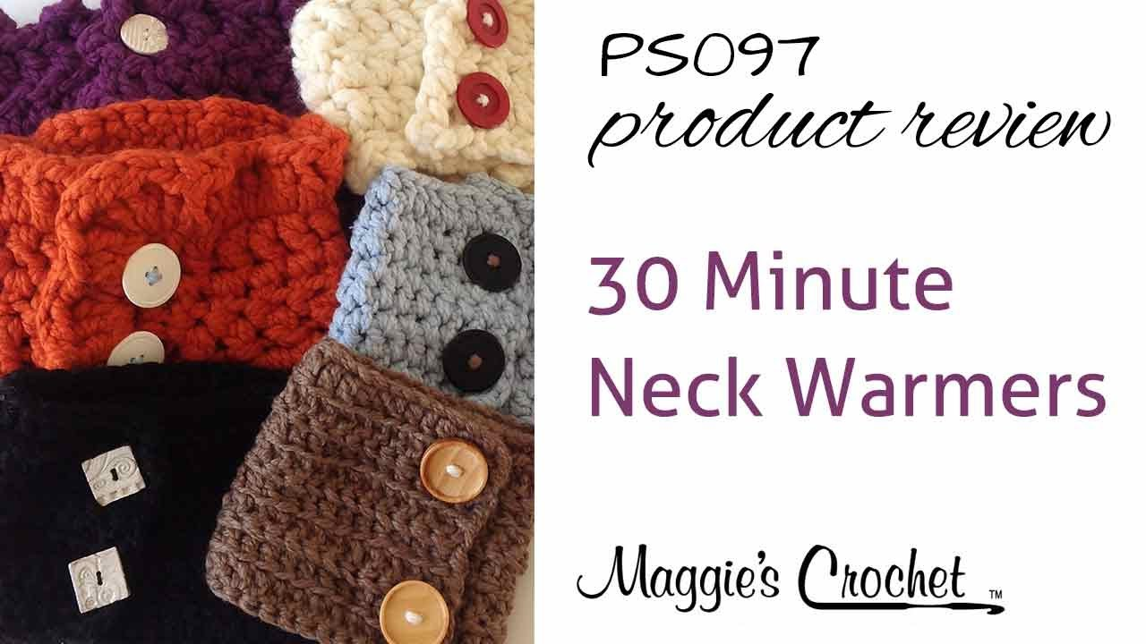 30-Minute Neck Warmers Crochet Pattern PS097 - YouTube