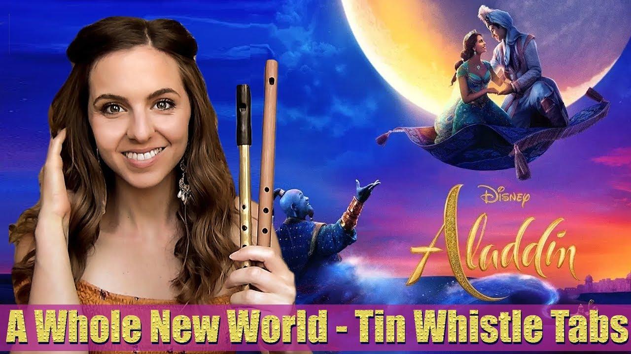 Aladdin - A Whole New World - Tin Whistle Tutorial - YouTube