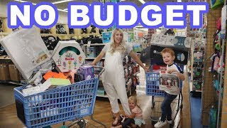 NO BUDGET BABY SHOPPING SPREE!
