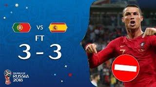 PORTUGAL 3-3 ESPAGNE ! RONALDO CONDAMNE A 2 ANS DE PRISON ! #LN