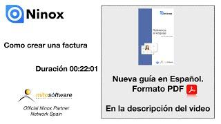 Ninox Database (Como crear una factura) en Español