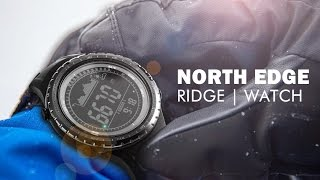NORTH EDGE ridge watch for outdoor mountaineering hiking climbing with altimeter barometer compass