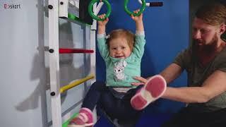 видео Шведская стенка – полезное приобретение для развития ребенка