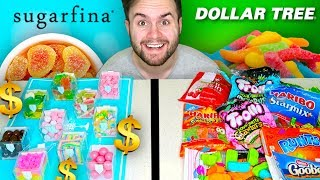 SUGARFINA LUXURY CANDY vs. DOLLAR TREE CANDY - Rich People Taste Test!