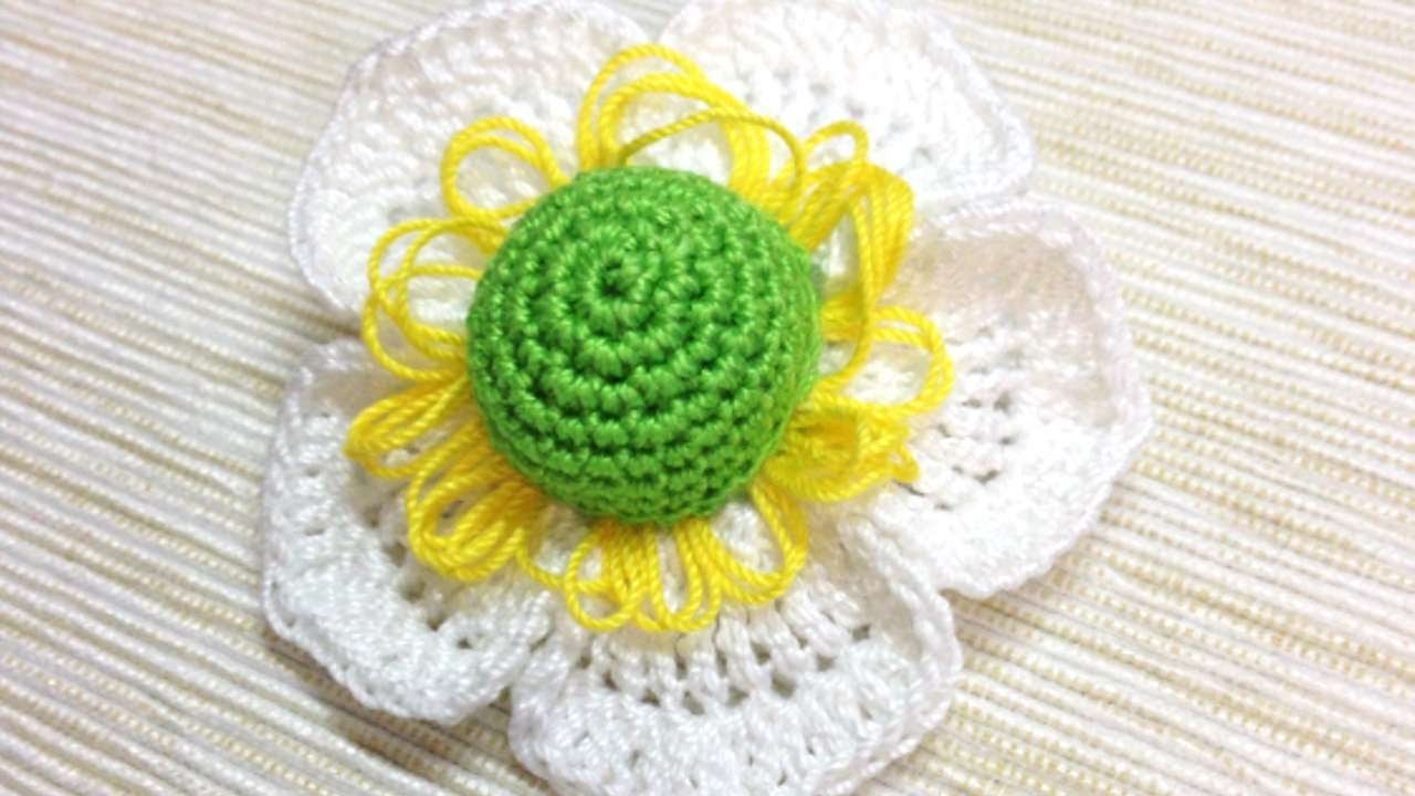 How To Make A Crocheted Flower Brooch - DIY Crafts Tutorial ...