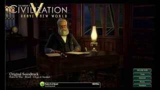 "Civilization V: Brave New World OST - Pedro II War - Brazil - ""Chega de Saudade"""