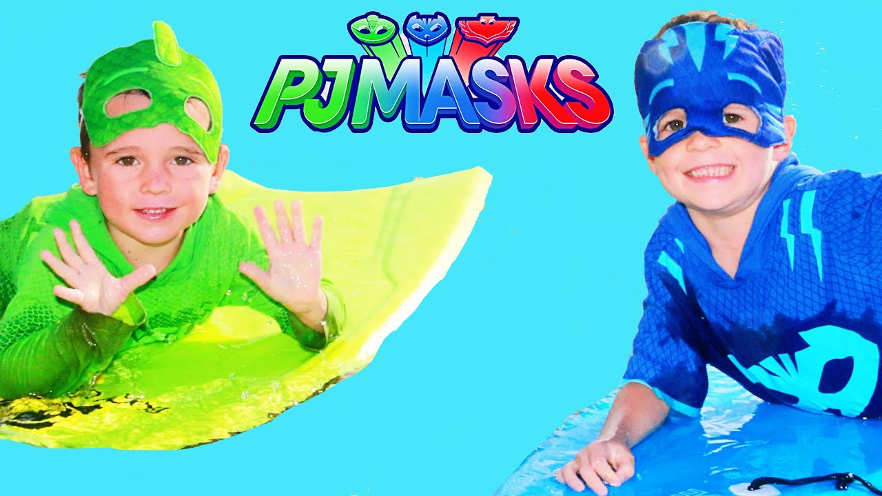 PJ Masks CATBOY vs GEKKO Fun Things to Do at the Beach Boogie Boarding Fun 3 Full Episodes