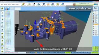 renishaw ph20 collision avoidance by vdmis cmm software