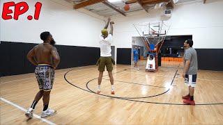 Me & Flight Learn How To Shoot 3's w/ NBA TRAINER! Journey To Hooper Hooper Ep.1