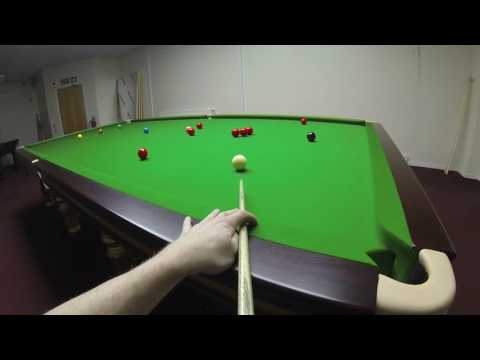 Headcam Snooker 147 attempt