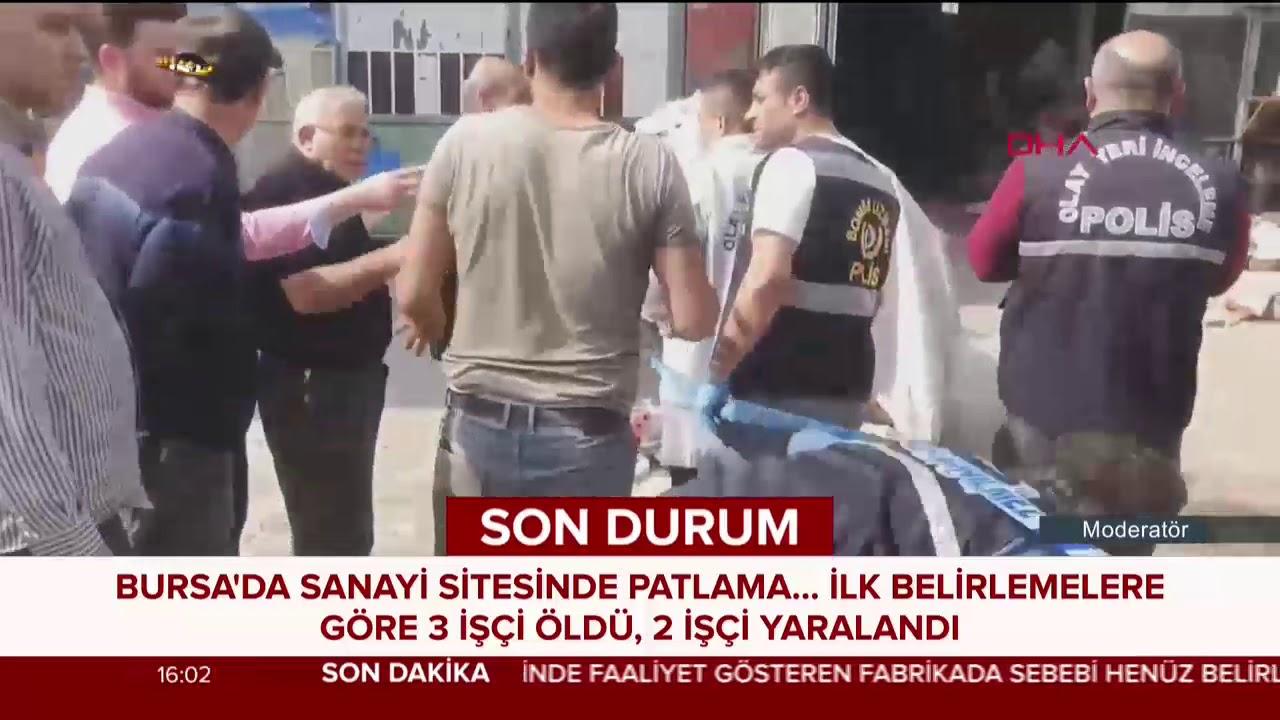 Bursa'da sanayi sitesindeki patlamadan ilk görüntüler