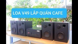 DÀN LOA QUÁN CAFE V49 Goldsound(A382 + 4c loa treo tường V49)
