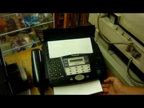 como enviar un fax panasonic kx ft907 youtube envio fax gratis