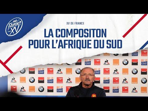 XV de France : La composition pour l'Afrique du Sud