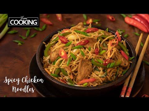 Spicy Chicken Noodles   Hakka Noodles Recipes   Street Food Recipes   Chicken Recipes