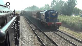 2016 great steam train race FROM THE CAB OF THE GARRATT 6029  FULL UNEDITED RACE