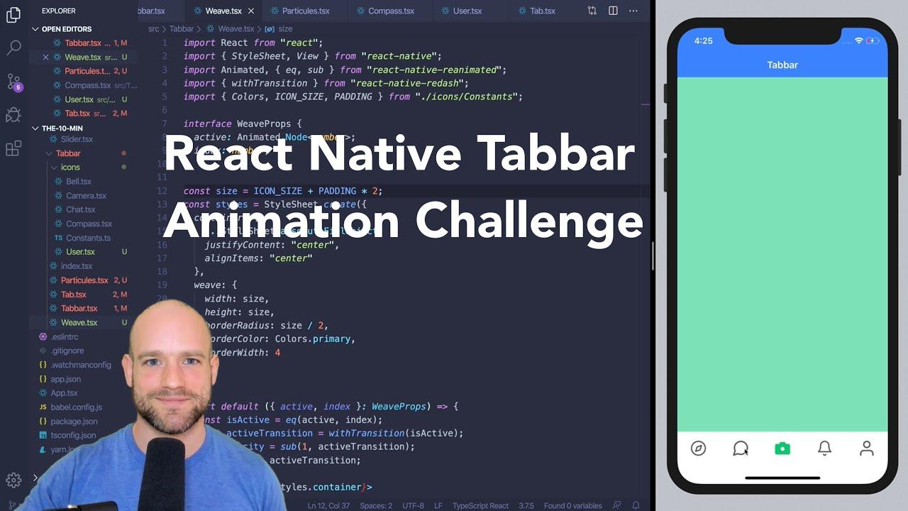 React Native Tabbar Animation Challenge