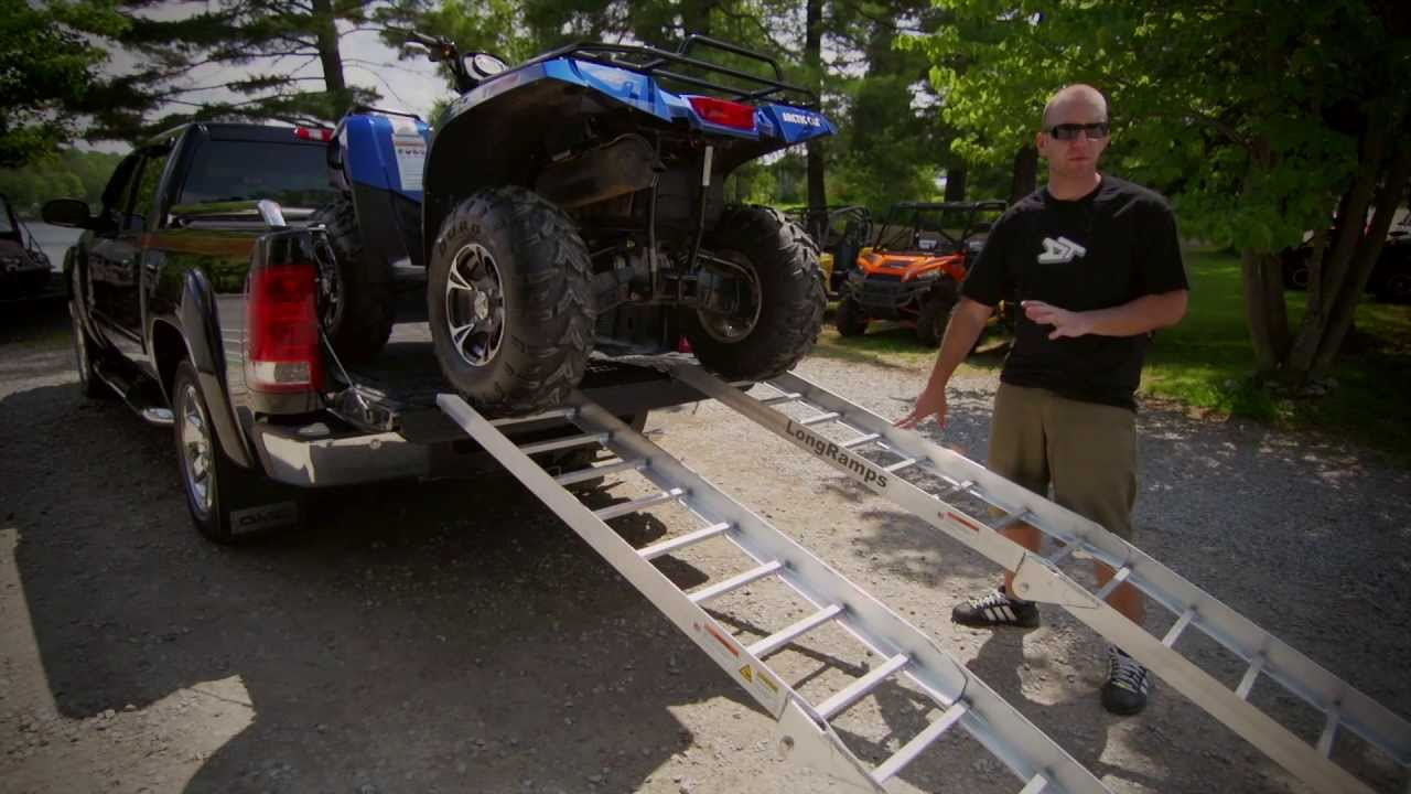How To Load Your Atv Into Your Truck Youtube