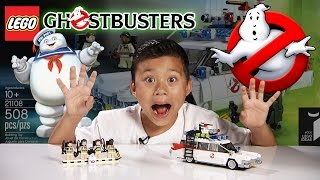 lego ghostbusters ecto 1 set 21108 time lapse build stop motion unboxing review