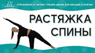 Растяжка спины и позвоночника Растяжка спины дома Упражнения для спины от фитнес тренера Дианы