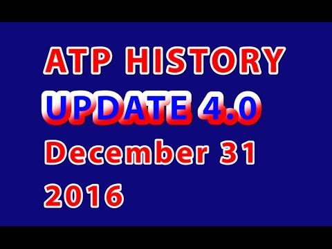 🎾 ATP Rankings History – 'Update 4.0' – December 31, 2016 🎾