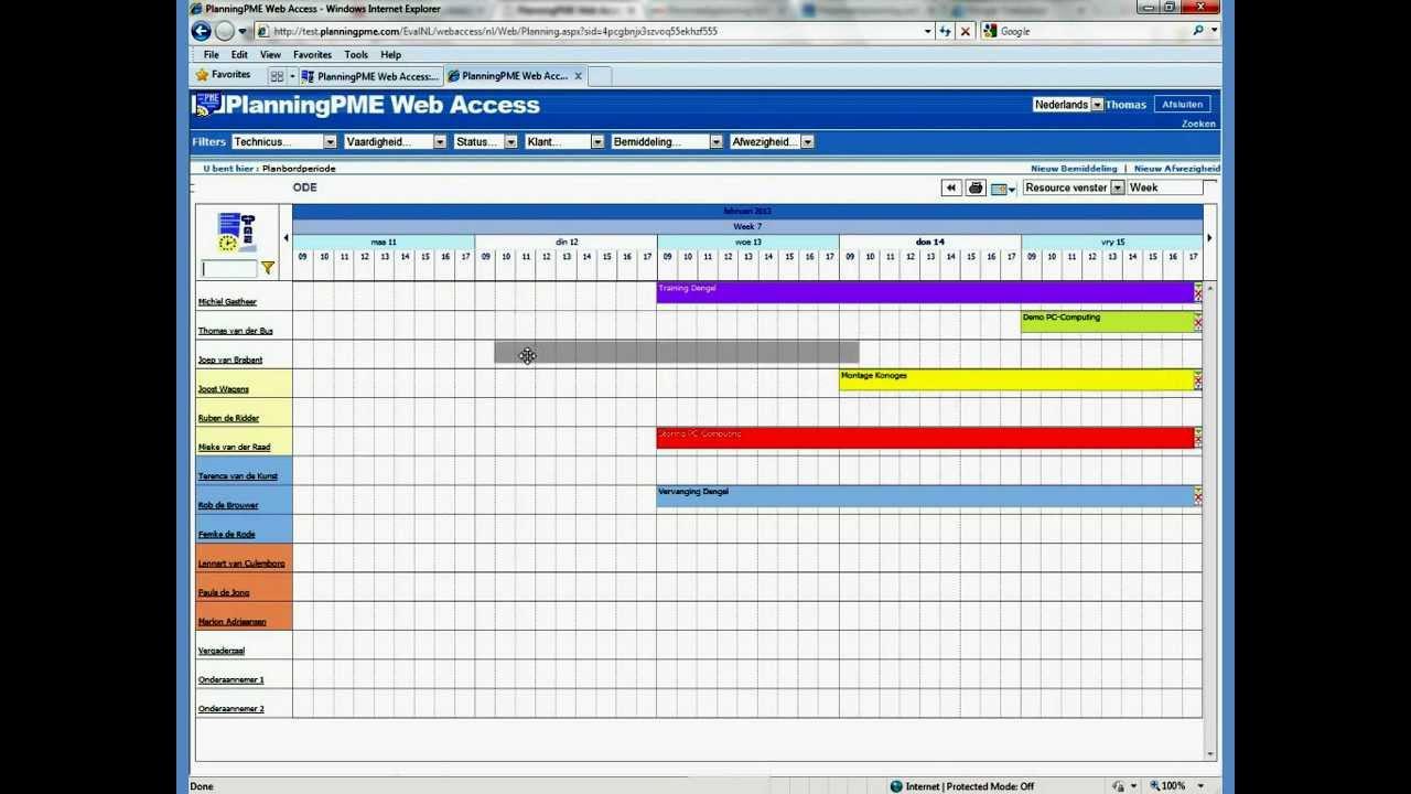 Planningpme web access uw planning toegankelijk via het for For planner