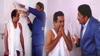 Prakash Raj Lecture To Brahmanandam Comedy Scenes Telugu Comedy Silver Screen Movies