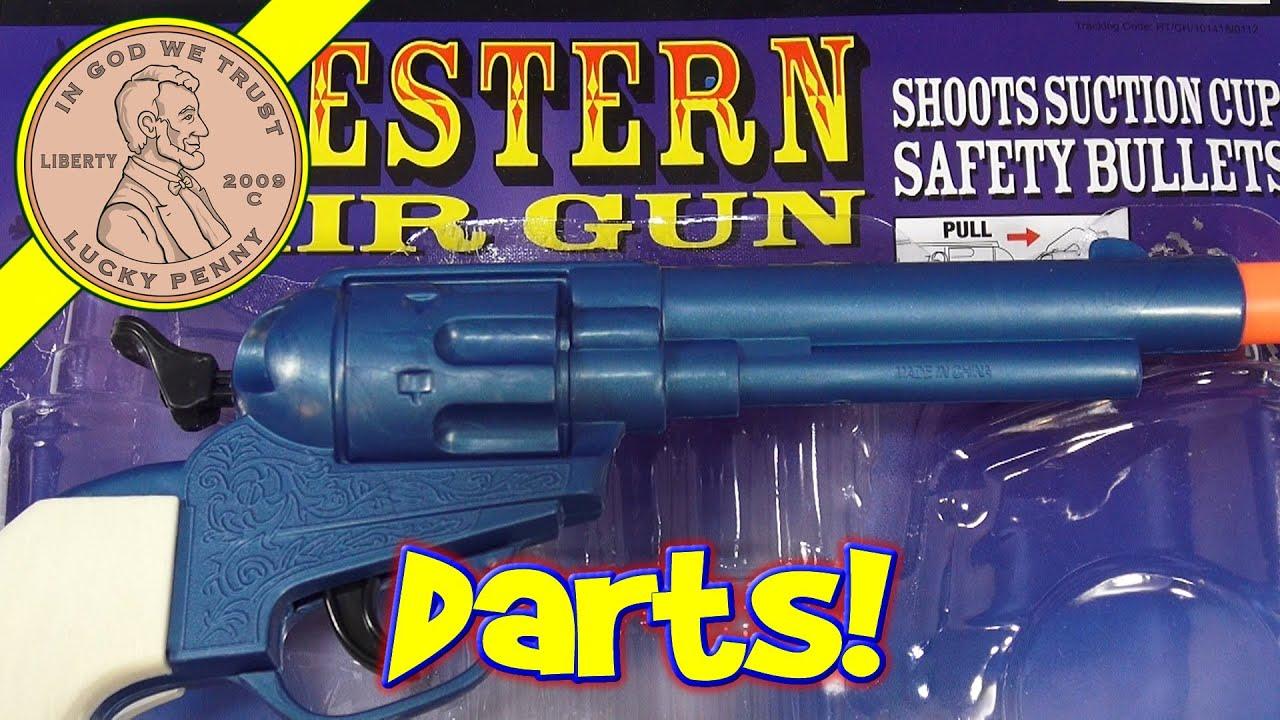 Attractive Western Air Pistols Double Holster Dart Gun Set #4502, Replicas By  BI35