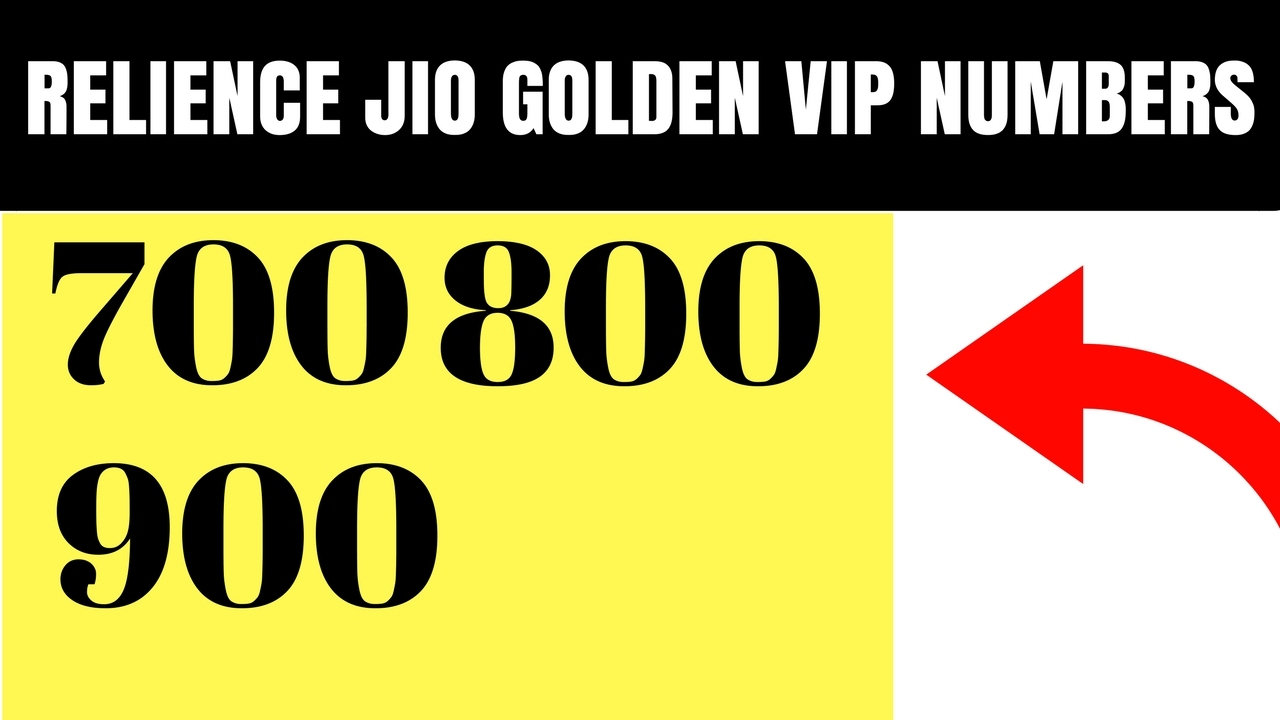 JIO VIP GOLDEN NUMBERS AWESOME NUMBERS
