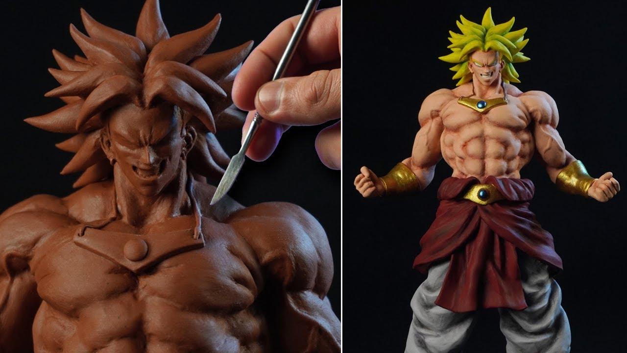 Sculpting BROLY Super Saiyajin | Dragon Ball Z