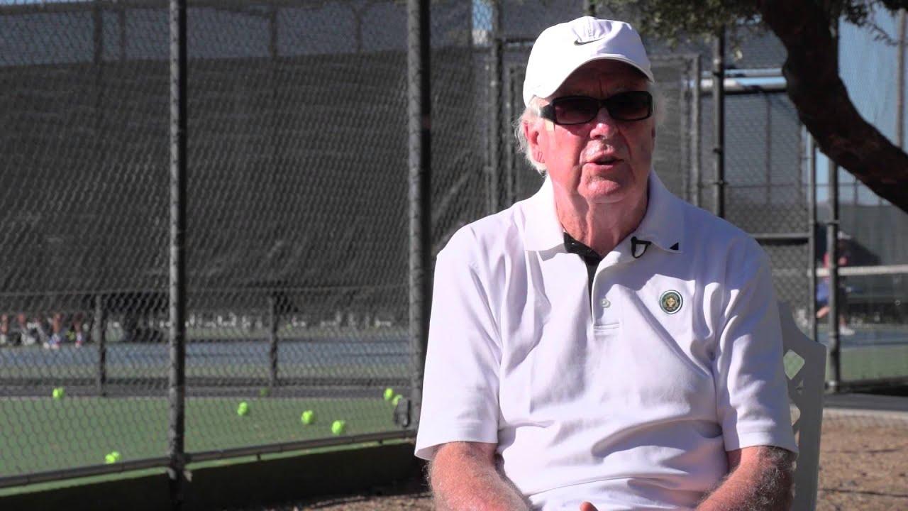 Fred Stolle Winner of 18 Grand Slam Titles Hall of Famer