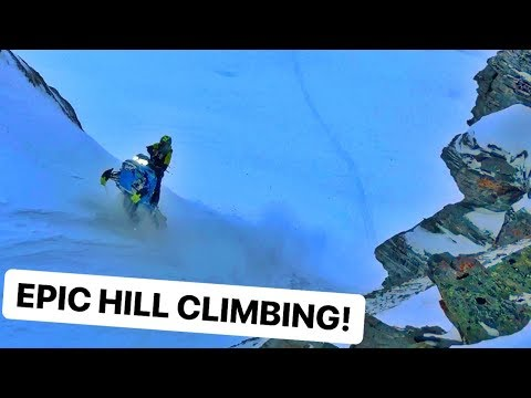 Snowmobile Hill CLIMBING! Avalanche ZONE!