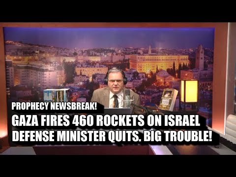 Gaza-Hamas Fires 460 Missiles on Israel. Defense Minister Quits. Netanyahu in trouble.