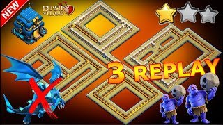 NEW TH12 WAR BASE 2018 Anti 1 Star/Anti 2 Star With 3 Replays Anti Electro Dragon Anti Everything