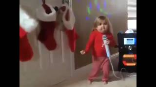 A small baby dancing for an telugu song