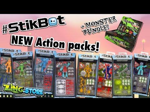 NEW Stikbot Action packs + Mega Monster pack!  Zing Store News
