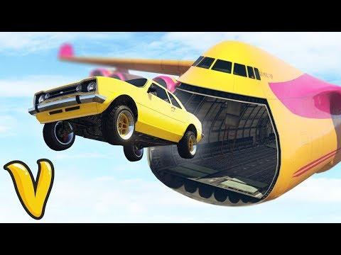 GTA V Online :: AIR TRANSFER IN GTA! :: Stunts Fails & Funny Moments