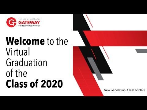 Urban Assembly Gateway School for Technology Graduation 2020