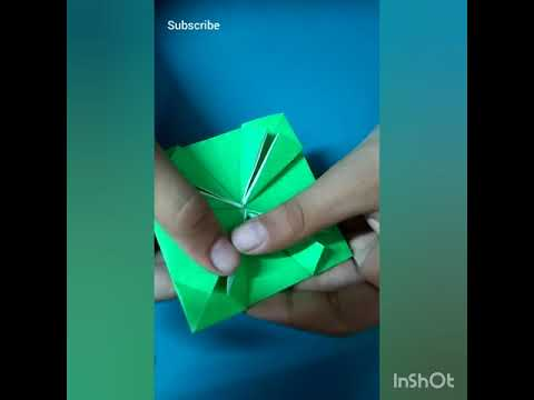 How to make a origami UFO
