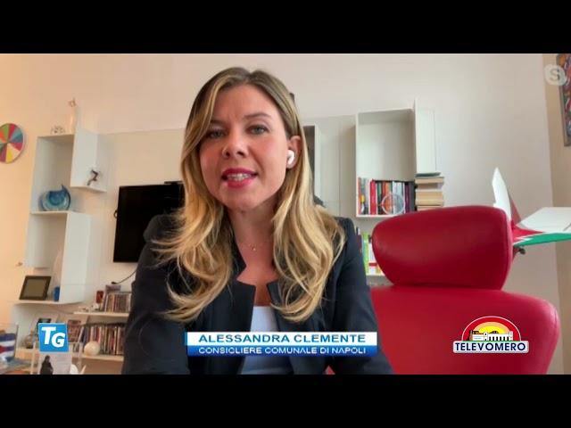 TELEVOMERO NOTIZIE IN COLLEGAMENTO CON ALESSANDRA CLEMENTE – CONSIGLIERE COMUNALE DI NAPOLI