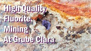 Mineralen zoeken in Grube Clara, april 2018