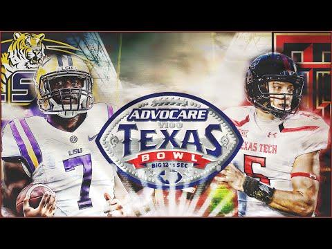 NCAA Football 16 | #22 LSU Vs Texas Tech | 2015 AdvoCare V100 Texas Bowl