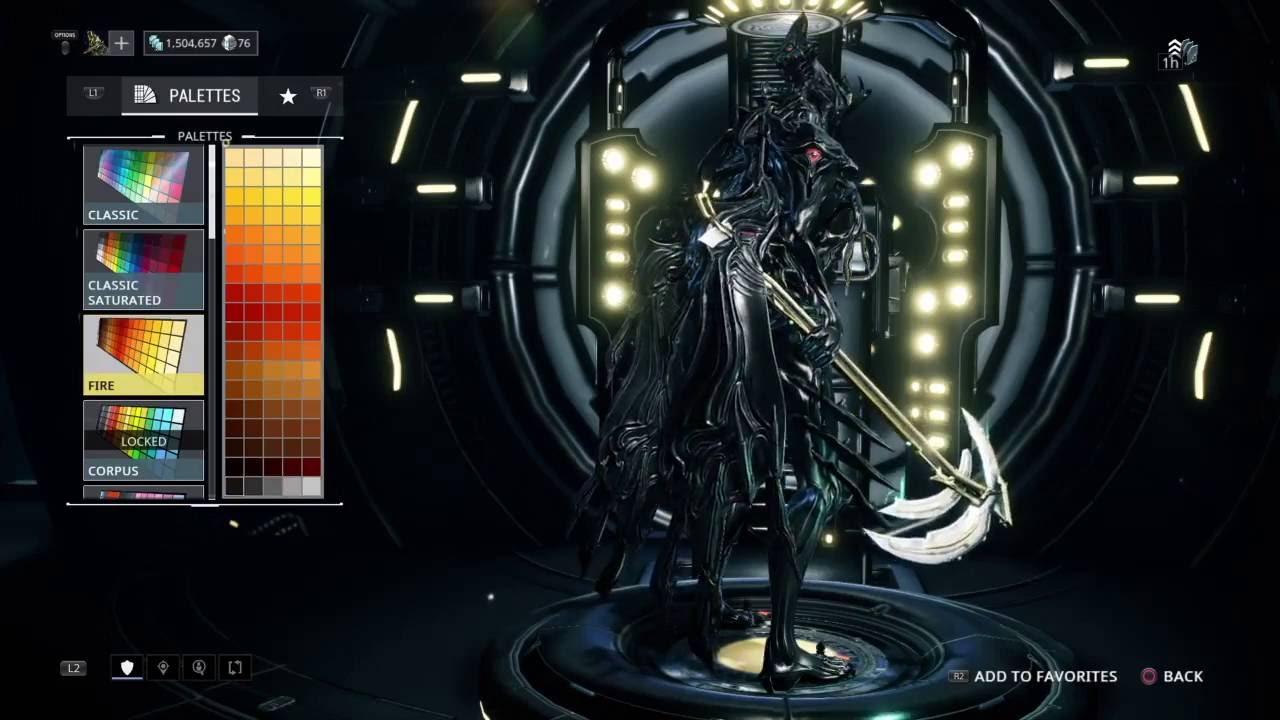 Warframe: Fashion Frame - Nekros Prime (ps4) - Clip.FAIL