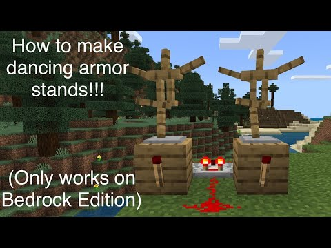 How To Build Dancing Armor Stands In Minecraft