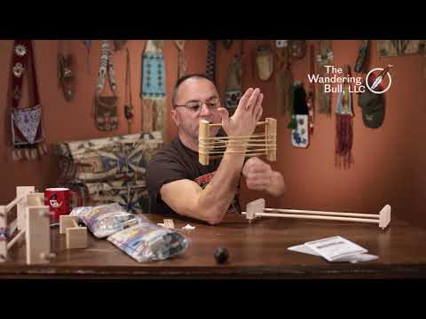 Making a wooden bead loom