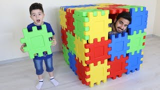 Yusuf Bugün Çok Sakar! Kids Pretend Play with Building Block Toy